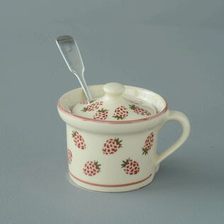 Mustard Pot Small Raspberry