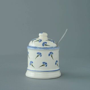 Jam Pot Small Cornflower