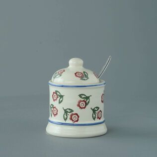 Jam Pot Small Scattered Rose