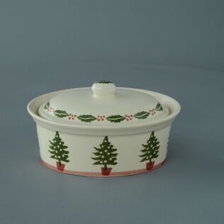 Butter dish oval Medium Christmas Tree