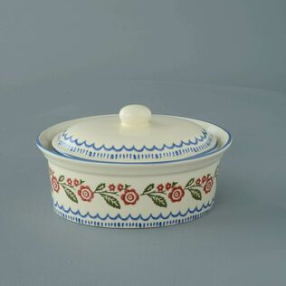 Butter dish oval Medium Creeping Briar