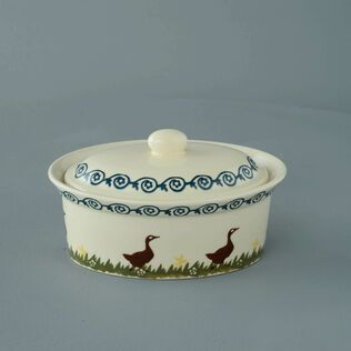 Butter dish oval Medium Duck