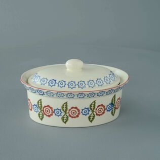 Butter dish oval Medium Victorian Floral