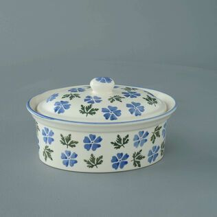 Butter dish oval Medium Geranium