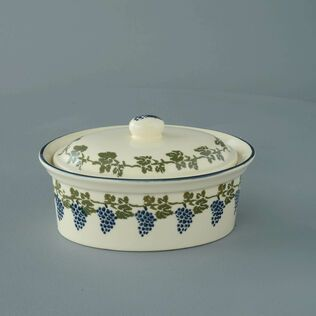 Butter dish oval Medium Grapes And Vine