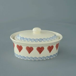 Butter dish oval Medium Heart