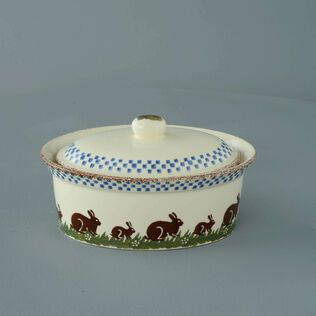 Butter dish oval Medium Rabbit