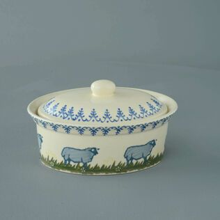 Butter dish oval Medium Sheep