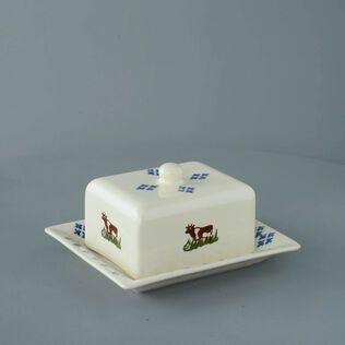 Cheese Dish Rectangular Medium Cow