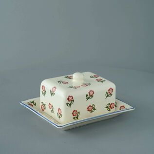 Cheese Dish Rectangular Medium Scattered Rose