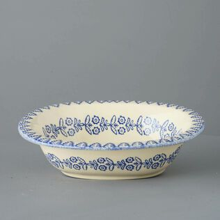 Pie Dish Large Lacey Blue