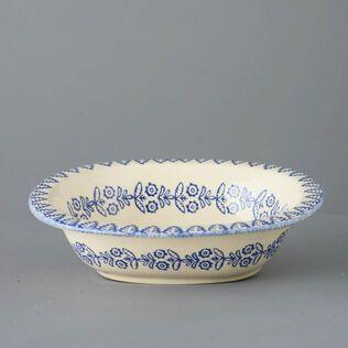 Pie Dish Large Lacey Blue