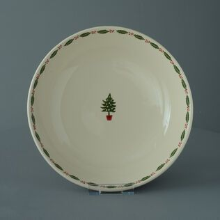 Serving Dish Round Large Christmas Tree