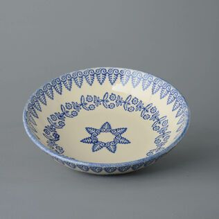 Serving Dish Round Large Lacey Blue