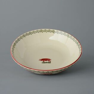 Serving Dish Round Large Pink Pig