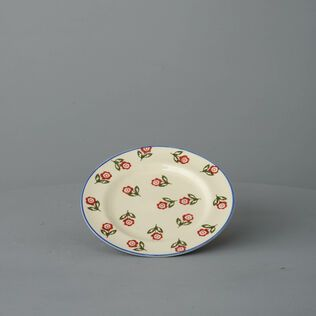 Plate Small Scattered Rose