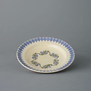 Soup Plate Medium Floral Garland