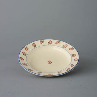 Soup Plate Medium Scattered Rose