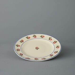 Plate Dessert Size Scattered Rose