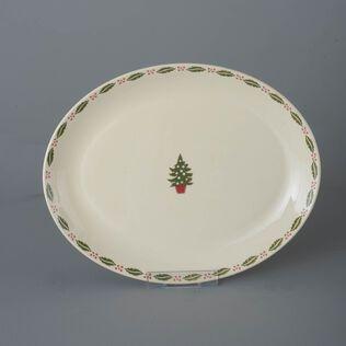 Oval Plate  Christmas Tree