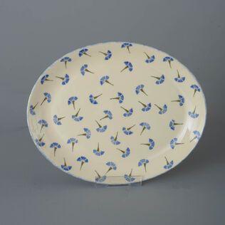 Oval Plate  Cornflower