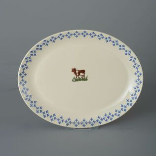 Oval Plate  Cow
