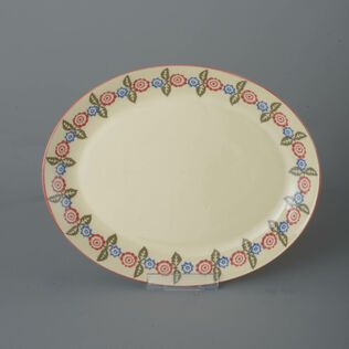 Oval Plate  Victorian Floral