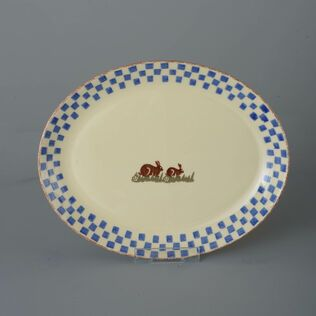 Oval Plate  Rabbit