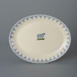 Oval Plate  Sheep