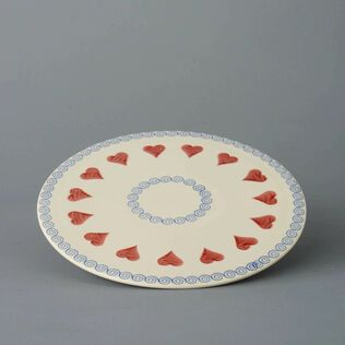 Plate Cheese & Cake Heart