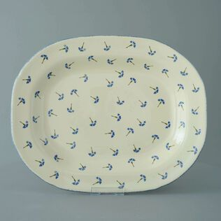 Plate Large rectangular serving Cornflower