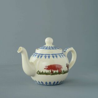 Teapot 2 Cup Farm Animal