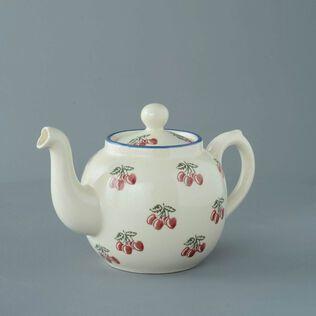 Teapot 4 Cup Cherry