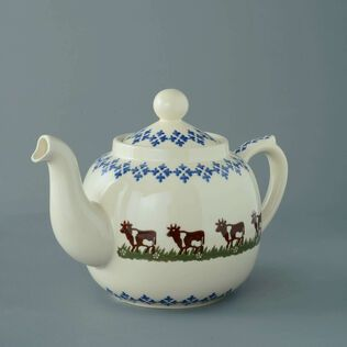 Teapot 10 Cup Cow