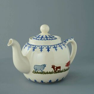 Teapot 10 Cup Farm Animal