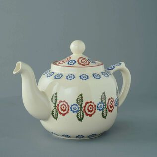 Teapot 10 Cup Victorian Floral