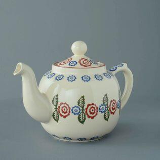 Teapot 10 Cup Victorian Floral