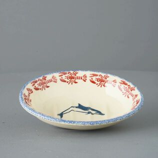 Soap dish oval Small Dolphin Leaping
