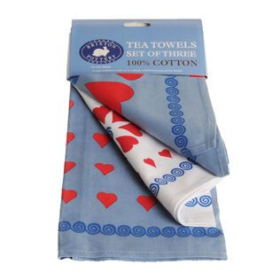 Set of 3 tea towels Medium Heart