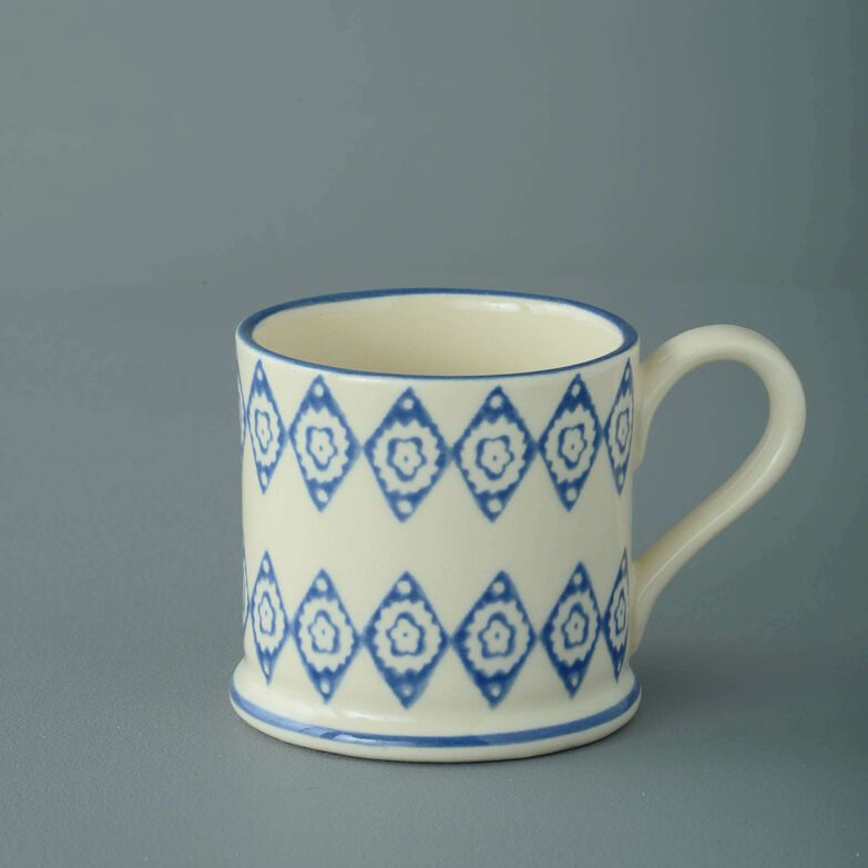Mug Small Blue Diamond