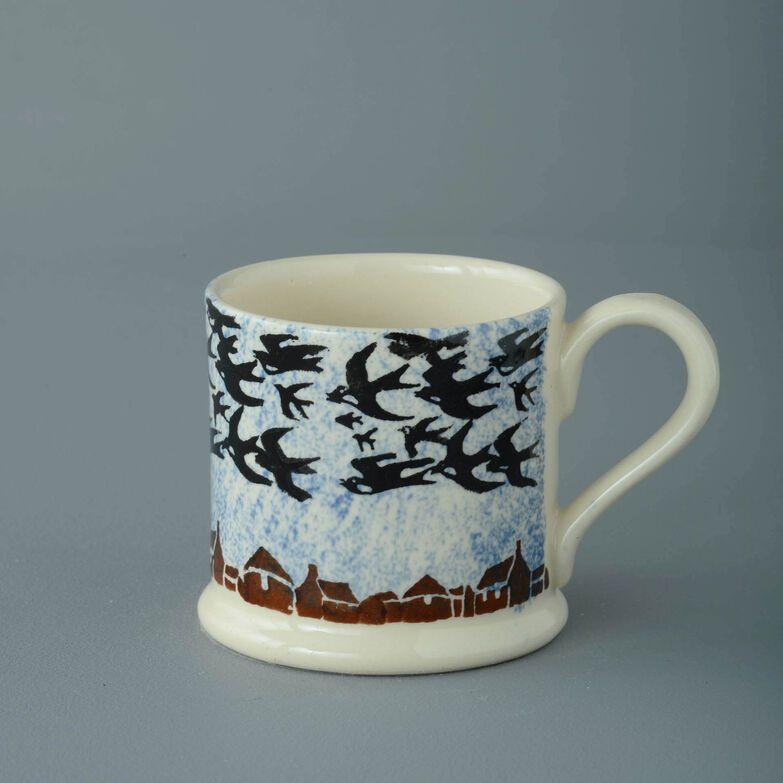 Mug Small Bird Swallows at dusk