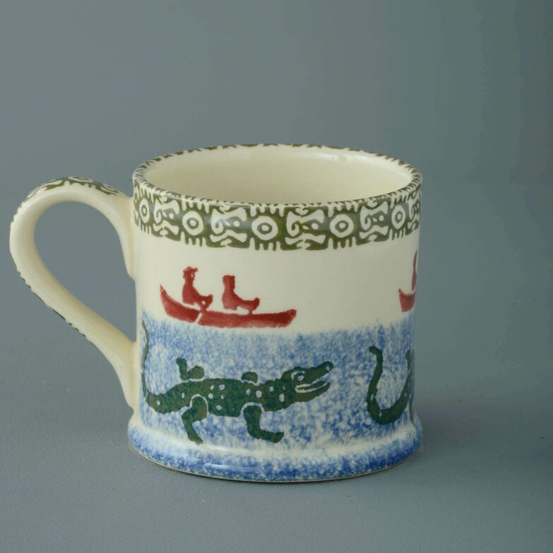 Mug Large Alligator and Boat
