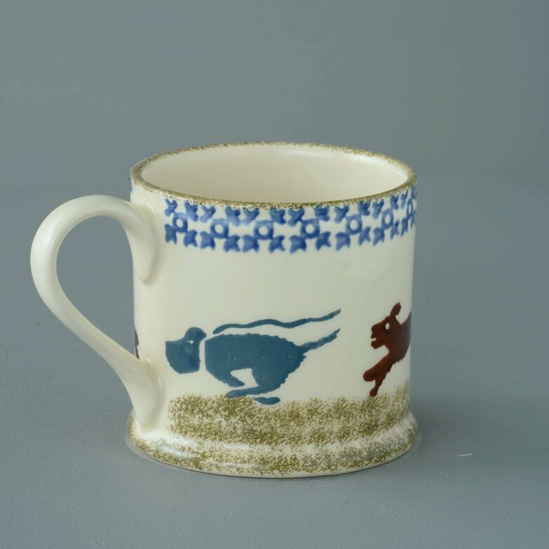 Mug Large Dog Scottie Chasing