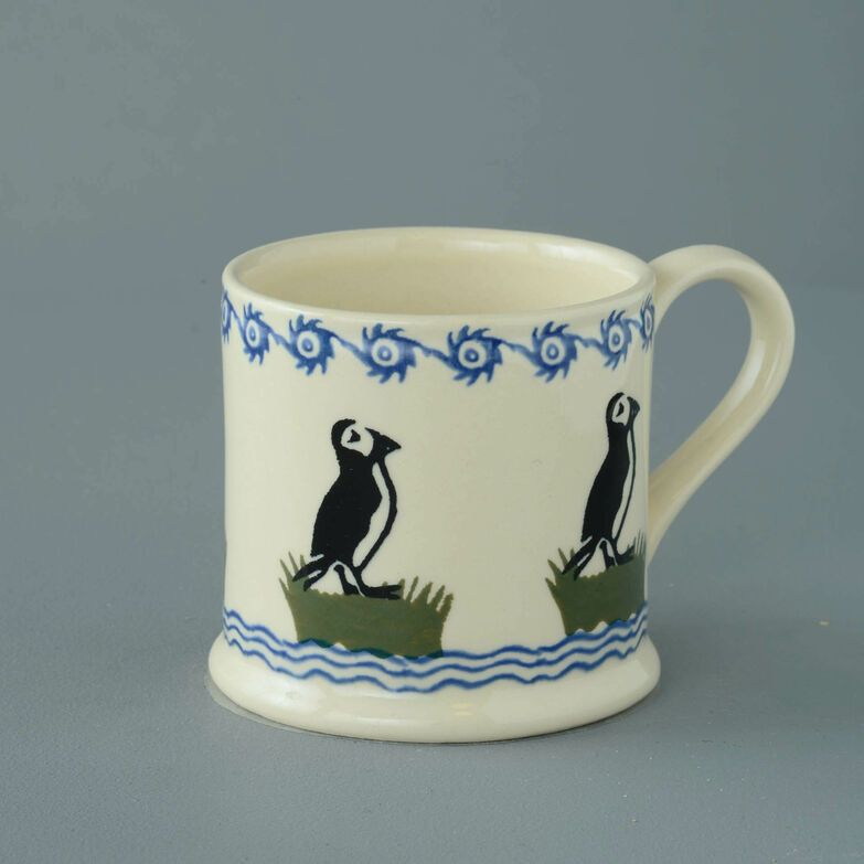 Mug Large Puffin Brixton Pottery