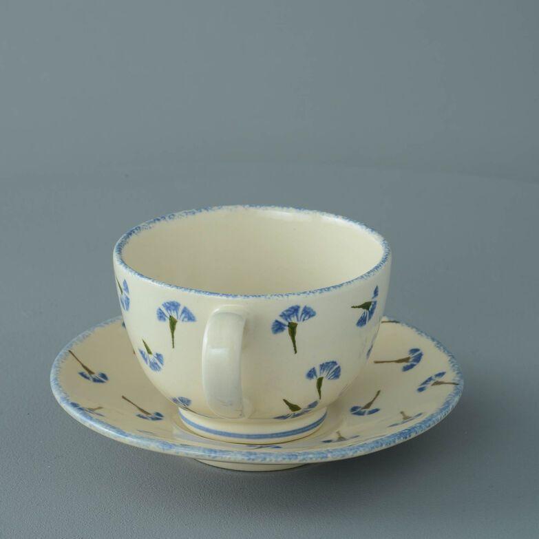 Cup & Saucer Breakfast Size Cornflower
