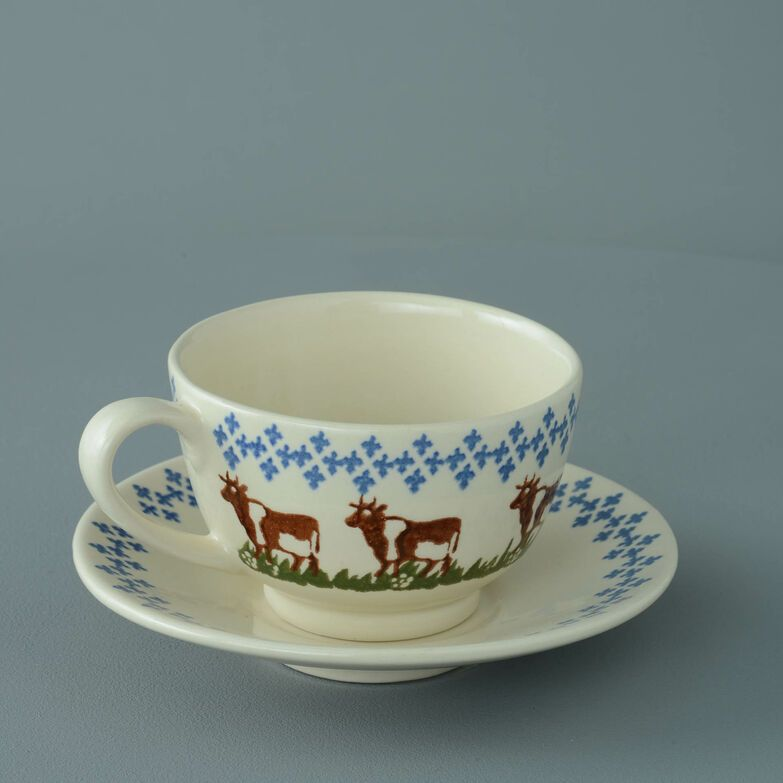 Cup & Saucer Breakfast Size Cow