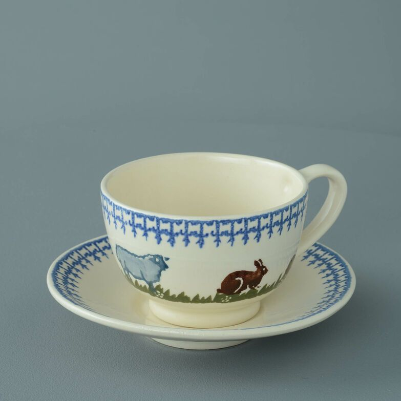 Cup & Saucer Breakfast Size Farm Animal