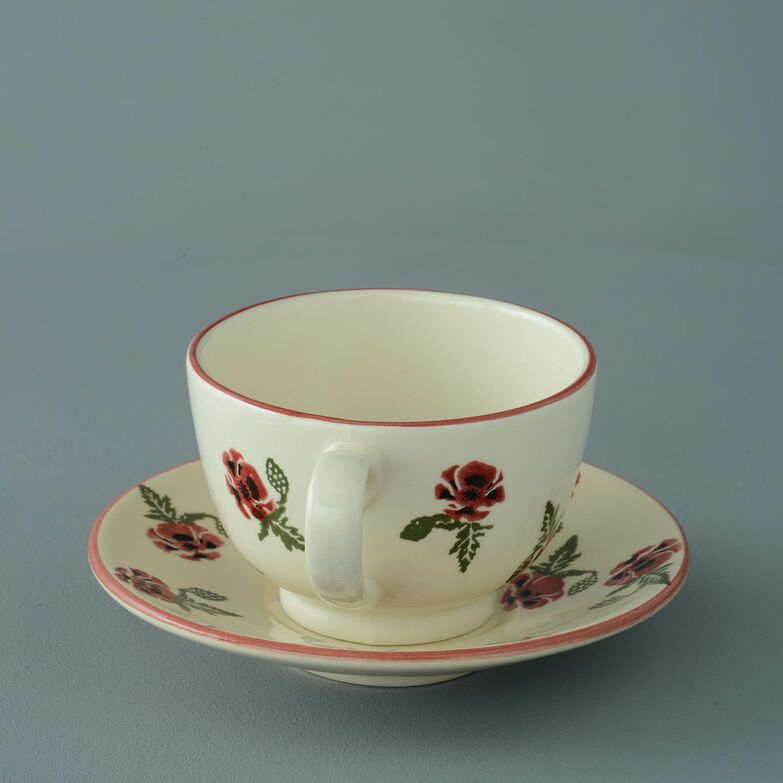 Cup & Saucer Breakfast Size Poppy
