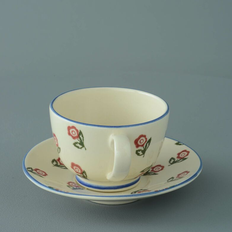 Cup & Saucer Breakfast Size Scattered Rose