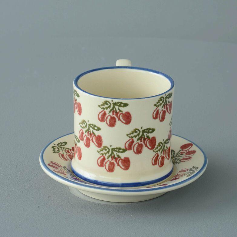 Mug & Saucer Small Cherry